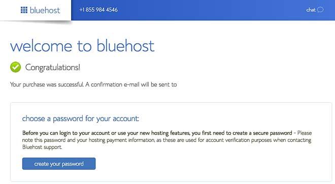 bluehost hosting lozinka