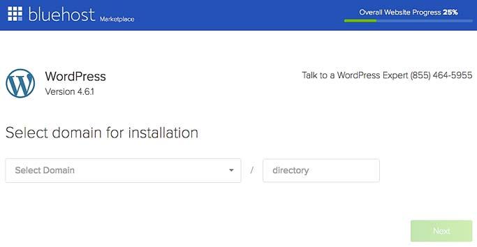 bluehost hosting wordpress