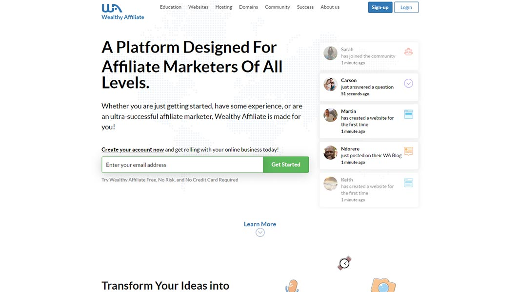 Wealthy affiliate hosting