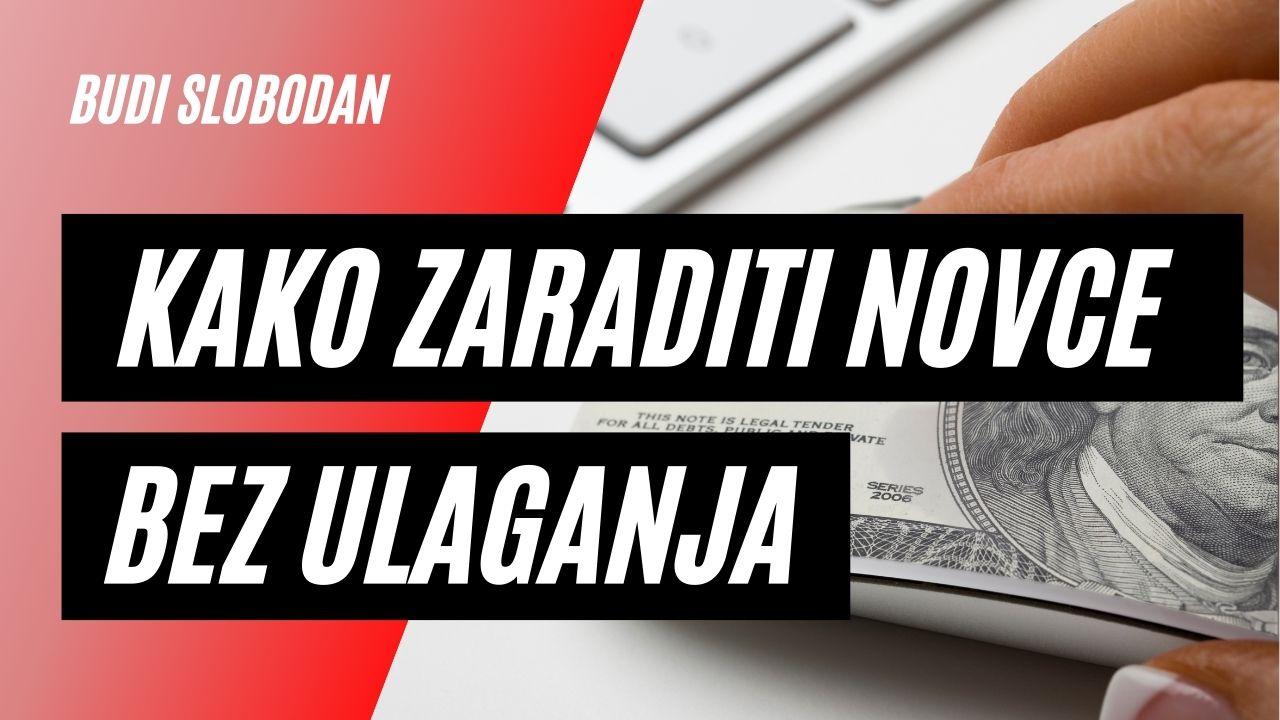 Kako zaraditi novac na internetu